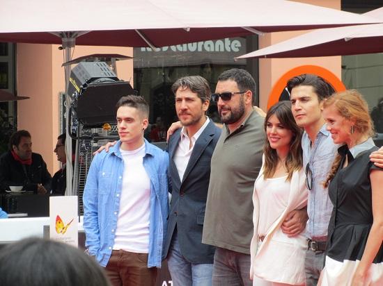 """Equipo de """"Combustión"""" en el Festival de Málaga @Alejandro Contreras"""