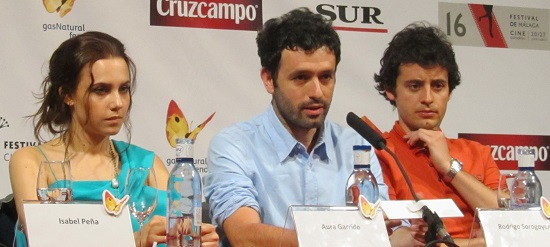 Aura Garrido, Rodrigo Sorogoyen y Javier Pereira de 'Stockholm' @Alejandro Contreras