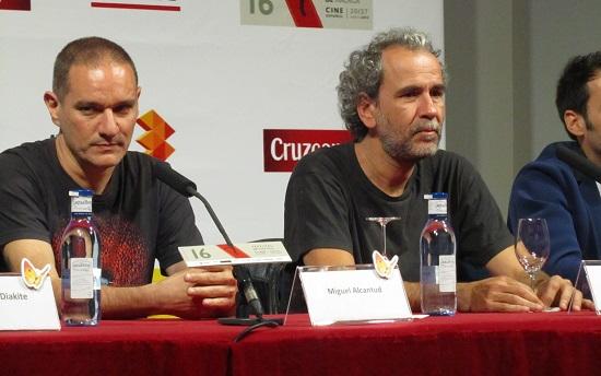 Miguel Alcantud y Guillermo Toledo en la rueda de prensa de 'Diamantes negros' @Alejandro Contreras