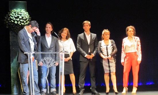 El equipo de 'La estrella' en la presentación en 'Málaga Premiere' @Alejandro Contreras