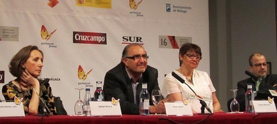 Mabel Rivera, Jorge Algora y los productores de 'Inevitable' @Alejandro Contreras