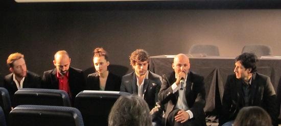 Lucas Figueroa presentando 'Viral' en #ZonaZine con sus actores @Alejandro Contreras
