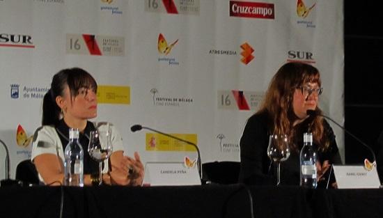 Candela Peña e Isabel Coixet durante la rueda de prensa @Alejandro Contreras