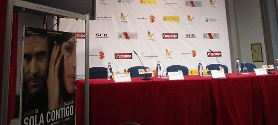 Rueda de prensa de 'Sola Contigo' en Salón Rossini del Teatro Cervantes @Alejandro Contreras