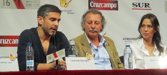 Leonardo Sbaraglia, Alberto Lecchi y Ariadna Gil @Alejandro Contreras