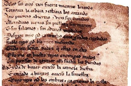 Resultado de imagen de manuscrito cantar de mio cid