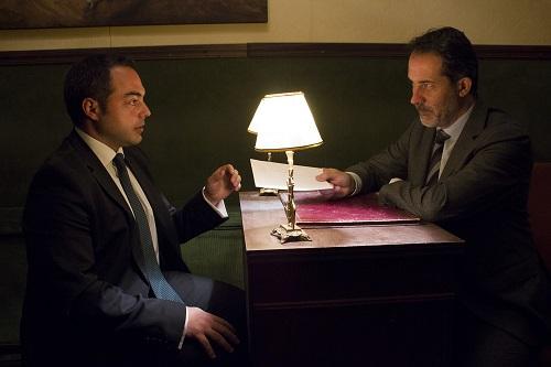 """Mario Tardón y José Navar en """"El Tesorero""""  José Ignacio Tofé.  Foto de Juanjo Lorbada"""