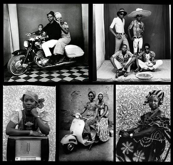 1, 2. Fotografía de Malick Sibidé | 3, 4 ,5. Fotografía de Seydou Keïta