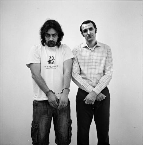 Isaki Lacuesta y Julián Villagrán, director y uno de los protagonistas de Murieron por encima de sus posibilidades. FOTO: Óscar Fernández Orengo