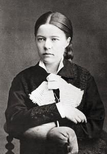 La joven Selma Lagerlöf retratada en 1881 por Anna Ollson