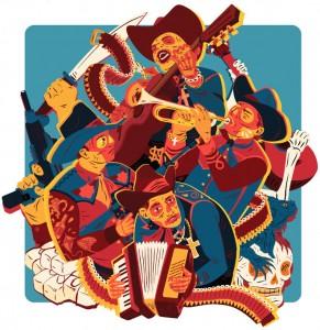 El narcocorrido, un nuevo mester de juglaría. (Ilustración de Matt Taylor)