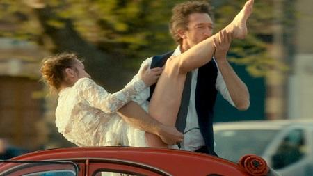 Vincent Casell y Emmanuelle Bercot de felices