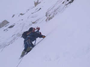 Laila subiendo su peak