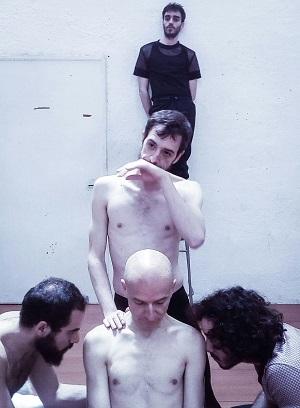 En un ensayo Nacho Sánchez, Rubén Frías, Jesús Barranco, Kev de la Rosa y Alberto Pau.