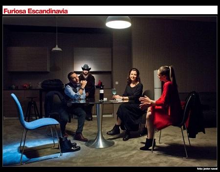 En la imagen los Actores David Fernández 'Fabu', Francesco Carril, Sandra Arpa e Irene Ruiz. Foto de Javier Naval