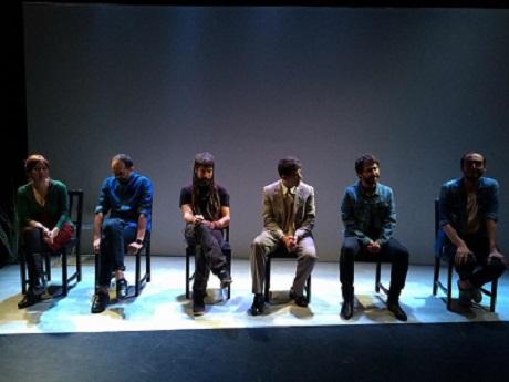 En la imagen Alicia Rodríguez, Juan Sebastian Domínguez Morillo, Juanan Morales, José Bustos, José Troncoso y Kike Gómez -productor-