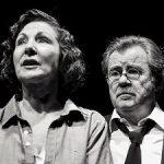 Pilar Barrera y Luis Perezagua en LA VISITA, de Carmen Resino, dirección de Ramón Ballesteros