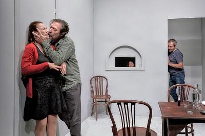 """Natalia Verbeke, Alonso García Millán, Malena Gutiérrez y Jorge Boch en """"Espía a una mujer que se mata"""" foto marcosGpunto"""