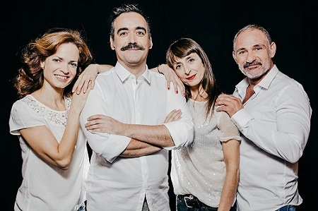 Lidia Navarro, Carlos Be, Carmen Mayordomo, Joan Bentallé, actores y autor y director de Malas Hierbas