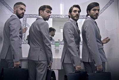 Jorge Gonzalo, Raúl Pulido, Juan Caballero y Javier Prieto en Lo(r)ca o Una tragedia homosexual, de Barak Ben-David @María D. Alba