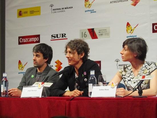 "Javier López, Jorge Narannjo y Esther Rivas presentando ""Casting"" @Alejandro Contreras"