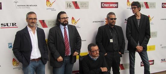 Javier Fesser junto a los directores de 'Al final todos mueren' @Alejandro Contreras