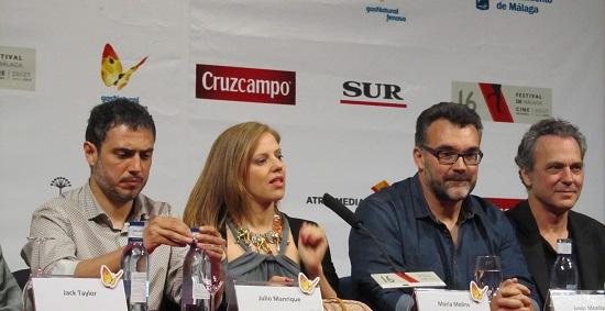 Julio Manrique, Maria Molins, el director Jesús Monllaó, José Coronado y David Solans  @Alejandro Contreras