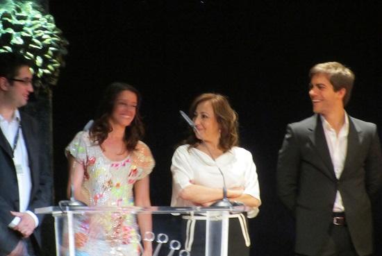 Alberto Aranda, director de 'La estrella' con Ingrid Rubio, Carmen Machi y Marc Clotet @Alejandro Contreras