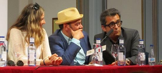 Emma Lustres, José Corbacho y Andreu Buenafuente, productores de 'Somos gente honrada' @Alejandro Contreras