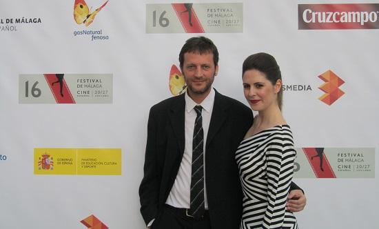 La actriz Bárbara Santa-Cruz con Daniel Castro, director y protagonista de 'Ilusión' @Alejandro Contreras