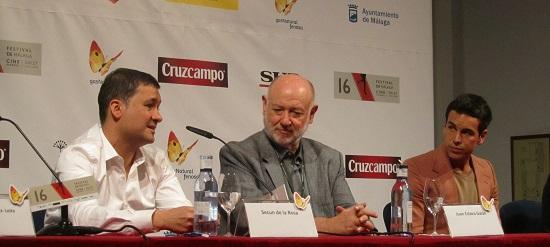 Secún de la Rosa, Juan Eslava Galán y Mario Casas @Alejandro Contreras