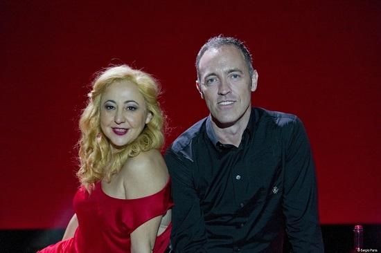 Carmen Machí y Miguel Arco, actriz y autor-director, en un magnífico retrato de Sergio Parra