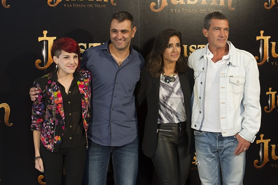 La cantante Angy, Manuel Sicilia, Inma Cuesta y Antonio Banderas