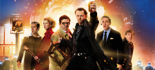 """""""Bienvenidos al fin del mundo"""", un etílico apocalípsis de Edgar Wright y Simon Pegg."""