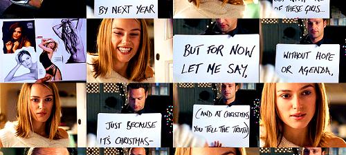 """Mi película favorita de Navidad es """"Love Actually"""" de Richard Curtis"""