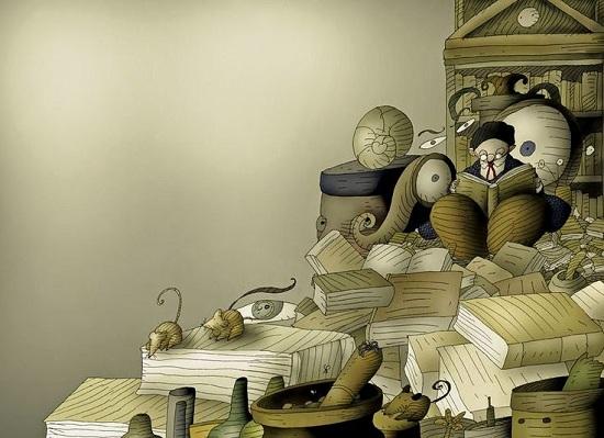 Las aventuras de la bruja fritanga ilustración