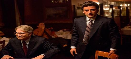 El  actor Ashley Williams junto a Oscar Isaac