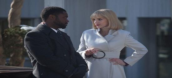 El actor nigeriano David Oyelowo  como correoso fiscal, frente a Jessica Chastain