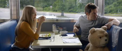 Amanda Seyfried, Mark Wahlberg y el oso de peluche con la voz de Seth MacFarlane son los protagonistas de Ted 2