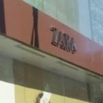 En una tienda de Zara