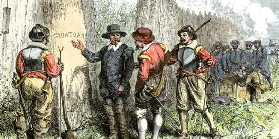 """""""Croatoan"""", la palabra escrita en el tronco de un árbol tras desaparecer una aldea entera en Estados Unidos sin dejar rastro."""