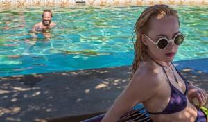 Famosos al borde de la piscina