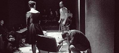 En la imagen Daniel Rimón, El soldado, Ori Esteban La Mujer y Edgar Costas El Escritor