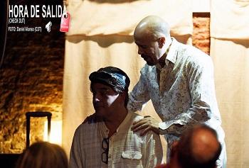 En la imagen los actores Alejandro Arroyo, Ignacio Gijón, en un momento de Hora de Salida, de Jonuel Pozo Foto de Daniel Alonso