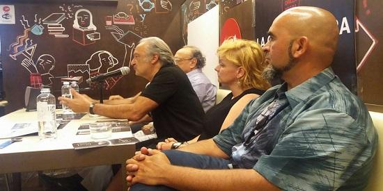 Presentación en La Central de Mallorca con José Vaccaro, José Luis Muñoz, Angelique Pfitzner y Nacho Cabana.