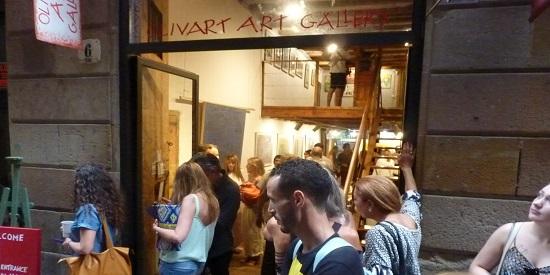Inauguración de la exposición del artista plástico Juan Luis Quintana.