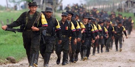 """Las FARC, el grupo guerrillero más importante de América, epicentro de la novela """"Bala morena""""."""
