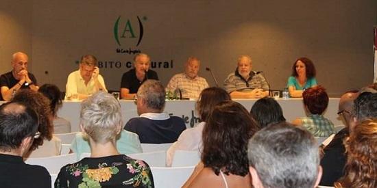 """Presentación de """"Bala morena"""" en Ámbito Cultural de El Corte Inglés de Madrid con Marcos Tarre y otros autores de la colección La Orilla Negra."""