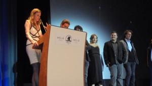 El equipo de Inside durante la presentación de su largo.