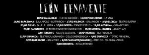 Aquí puedes consultar todas las fechas y ciudades de la gira.